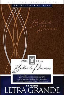 Biblia De Promesas-RVR60-Letra Grande-Cafe (Imitacion Piel )