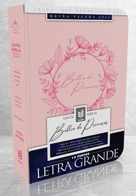 Biblia De Promesas-RVR60-Letra Grande-Rosado (Imitacion Piel )