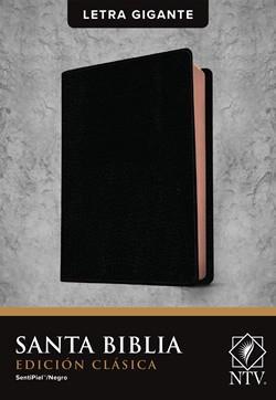 Biblia NTV Letra Gigante Edicion Clasica Sentipiel Negro (Flexible Imitacion Piel Negro) [Bíblia]