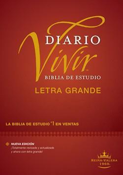 Biblia De Estudio Diario Vivir RVR60 Letra Grande Tapa Dura (Tapa Dura ) [Bíblia]