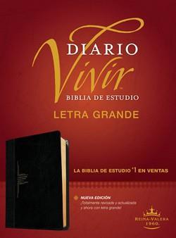 Biblia De Estudio Diario Vivir RVR60 Letra Grande Sentipiel Negro-Onice (Flexible Imitacion Piel Negro-Onice) [Bíblia]