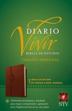 Biblia De Estudio Diario Vivir NTV Tamaño Personal Sentipiel Café Claro (Flexible Imitacion Piel Café) [Bíblia]