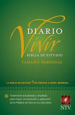 Biblia De Estudio Diario Vivir NTV Tamaño Personal Rustica/Verde (Flexible Rustica color Verde) [Bíblia]