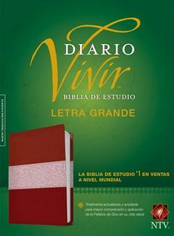 Biblia De Estudio Diario Vivir NTV Letra Grande Sentipiel Vino Rosa (Flexible Imitacion Piel Vino Tinto-Rosa) [Bíblia]