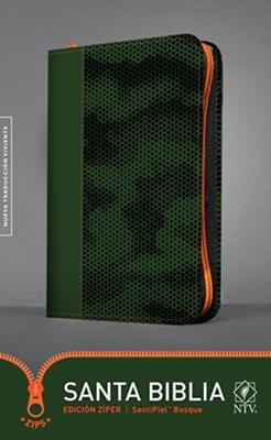Biblia NTV Edición Zipper Verde Bosque (Flexible con Cierre color Verde Bosque) [Bíblia]
