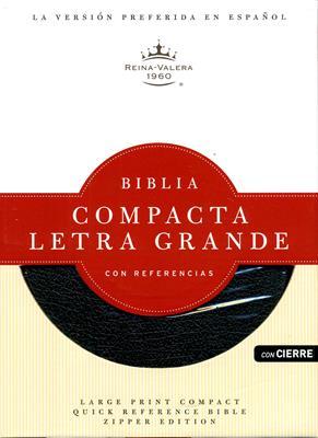 Biblia compacta letra grande con referencias (Piel) [Biblia]