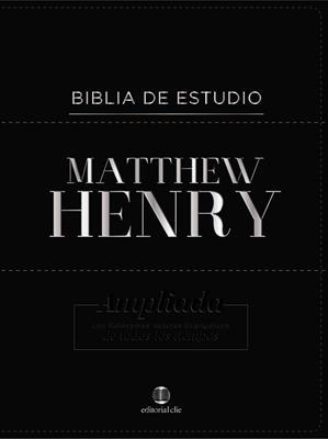Biblia Estudio Matthew Henry (Piel Elaborada) [Biblia de Estudio]