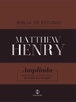 Biblia Estudio Matthew Henry (Piel Especial) [Biblia de Estudio]