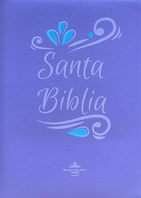 Biblia-RVR-55CZLG-Lila-Canto Lila (Imitacion Piel )