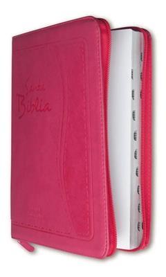 Biblia RVR 085 CZTILG Rosa Indice Canto Plateado (Flexible eco Piel con Cierre Rosa) [Bíblia]