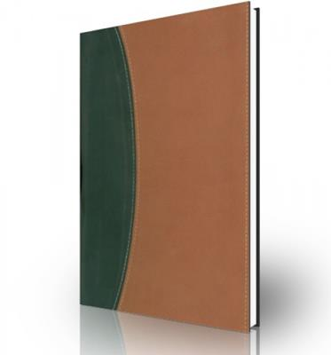 Biblia de referencia Thompson RVR60, dos tonos, negro/marron (Piel Italiana a Dos Tonos)