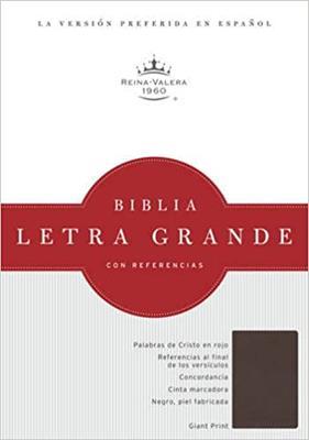 Biblia RVR Letra Grande Referencias Imitación Piel Chocolate (Flexible Imitacion Chocolate) [Bíblia]