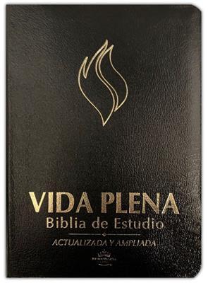 Biblia Vida Plena de Estudio Negra (Imitación Piel ) [Bíblia]