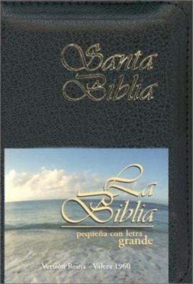 Biblia RVR 025 CXZ Negro Cierre (Flexible Imitacion Piel Negro con Cierre) [Bíblia]