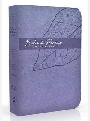 Biblia De Promesa RVR60 Tamaño Manual Piel Especial Lavanda