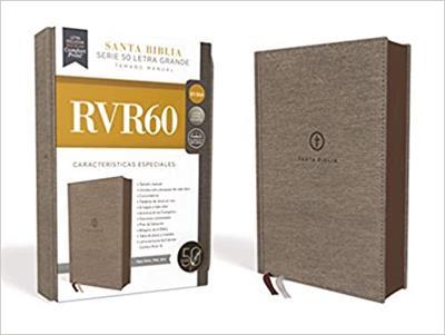 Biblias RVR60/Letra Grande/Serie 50 (10)/Gris Tamaño Manual [Biblia]