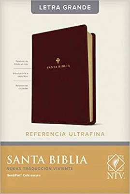 Biblia NTV/Edicion De Referencia/Letra Grande/Cafe Oscuro [Biblia]