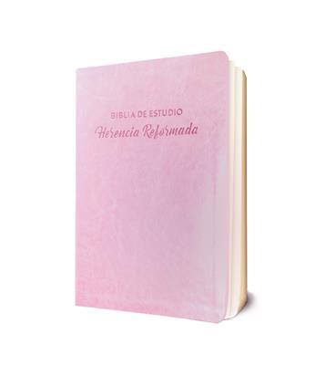 Biblia De Estudio Herencia Reformada/Rosada (Semil Piel/Rosado) [Biblia de Estudio]