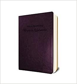 Biblia De Estudio Herencia Reformada/Vinotinto (Semil Piel) [Biblia de Estudio]