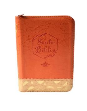 Biblia/RVR/045cZLM PJR/Naranja Beige/Canto Plateado [Biblia]