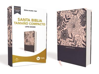Biblia RVR60/Compacta/Letra Grande/(10)/Azul Floral (Imitación piel )