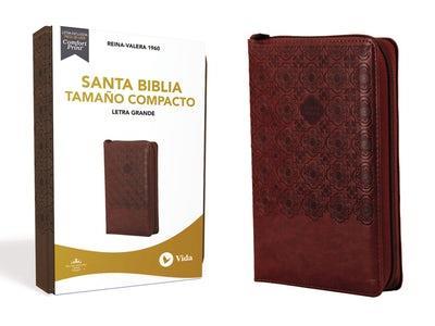 Biblia RVR60/Compacta/Letra Grande/(10)/Cafe/Cierre (Imitación piel )