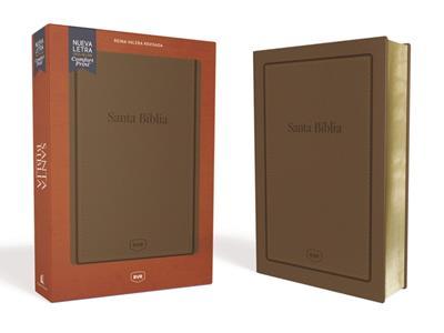 Biblia RVRevisada/Letra Grande/Manual/Cafe/Letra Roja (Imitación piel )