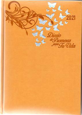 Agenda Diario De Promesas 2021 Mujer Amarillo (Imitacion Piel)