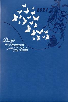 Agenda Diario De Promesas 2021 Mujer Azul Rey (Imitacion Piel )