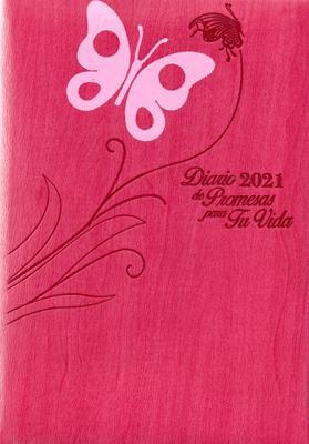 Agenda Diario De Promesas 2021 Mujer Fucsia Acero (Imitacion Piel )