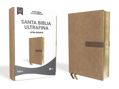 Biblia NBLA/Ultrafina/Letra Gigante (14)/Beige (Imitación piel )