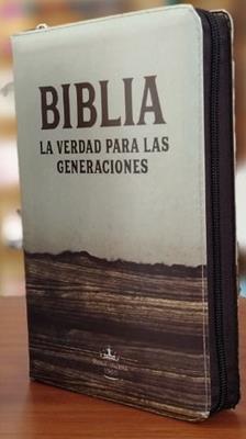 Biblia RVR60/ Forro Cierre/ Color Madera/La Verdad Para Las Generaciones (Vinilo con Cierre)