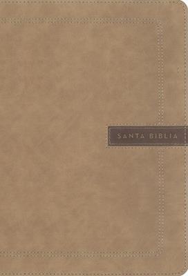 Biblia NBLA/Letra Super Gigante/Beige/Edicion Letra Roja (Imitación piel )