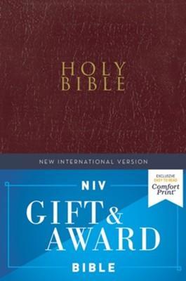 Biblia NIV/Letras En Rojo/Borgoña/Ingles