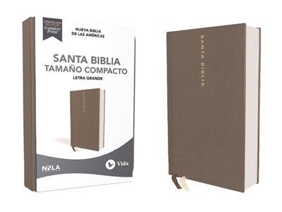 Biblia NBLA/Letra Grande/Tapa Dura/Tela/Gris/Tamaño Compacta (Tapa dura)
