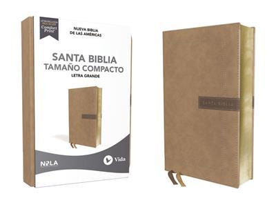 Biblia NBLA/Letra Grande/Tapa Dura/Leathersoft/Beige/Tamaño Compacta (Imitación piel )