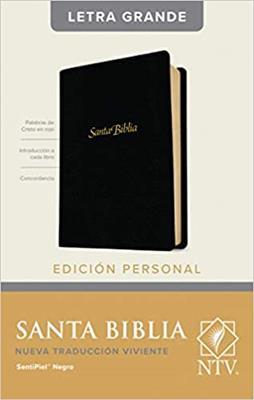 Biblia NTV/Edicion Personal/Letra Grande/Negro/Sentipiel (Imitación piel )