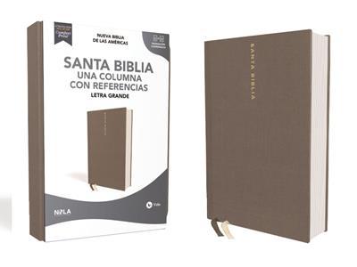 Biblia NBLA/Una Columna/Referencias/Letra Grande/Tapa Dura/Tela Gris (Tapa dura)