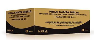 Caja De Biblias NBLA/Economica/Letra Grande/Tapa Rustica/24 Unidades (Rústica)