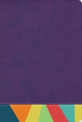 Biblia De Estudio/RVR60/Arcoiris/Morado-Multicolor/Semil-Piel/Nueva (Imitación piel )