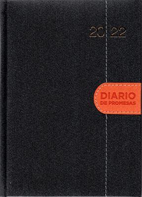 Agenda Diario De Promesas 2022 Hombre Gris Naranja (Tapa Dura) [Agenda]