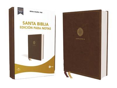 Biblia/RVR1960/Edicion Para Notas/Imitacion Piel/Cafe/PJR/Letra 10 Puntos (Símil piel)