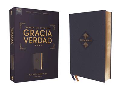 Biblia De Estudio NBLA/Gracia Y Verdad/Leathesoft/Azul Marino (Imitación Piel) [Biblia]