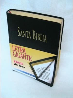 Biblia letra gigante borde doraro (Imitacion piel)