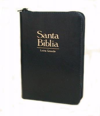 Biblia acolchada con cremallera