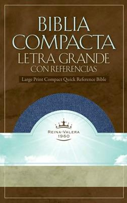 Biblia compacta letra grande con referencias (Tela jean)