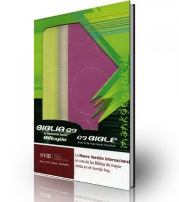 Biblia de crecimiento juvenil bilingüe (simulación piel)