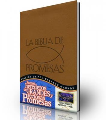 La biblia de las promesas edición en poliuretano marrón (simulación piel)