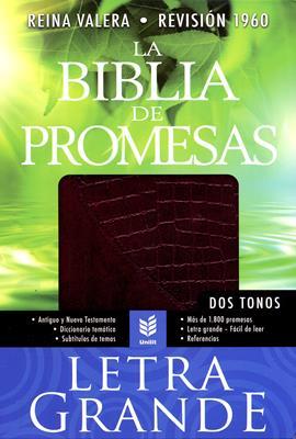 Biblia de las promesas letra grande vino/croc (Piel fabricada) [Biblia]