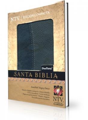 Santa biblia edición compacta duo tono negro/onice (simulación piel) [NTV]